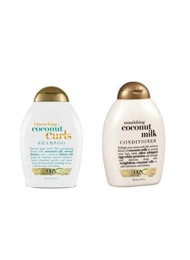 Organix Organix Quenching+Coconut Curls Bukleli Saç Şampuanı 385 Ml+Nourishing Coconut Milk Saç Bakım Kremi 385 Ml Renksiz